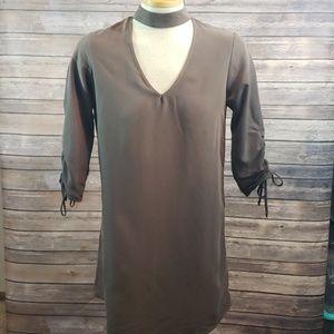 EVERLY V-Neck choker dress size S